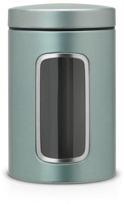 Brabantia - pojemnik z okienkiem  1.4l - metaliczny miętowy - miętowy