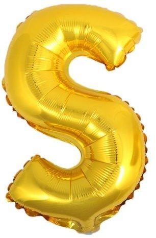 Balon foliowy S złoty 41cm 1szt BF41-S-ZLO
