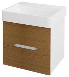 MEDIENA szafka umywalkowa 57x50,7x48,5cm, kolor biały matowy/dąb natural Odbiór osobisty BEZ OPŁAT !!! - Warszawa, Gdynia - Dostawa od 29.00zł