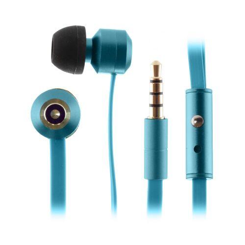KITSOUND Ribbons Słuchawki dokanałowe z mikrofonem niebieskie