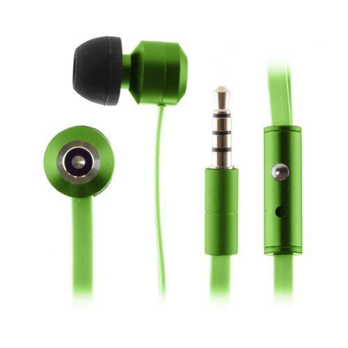 KITSOUND Ribbons Słuchawki dokanałowe z mikrofonem zielone