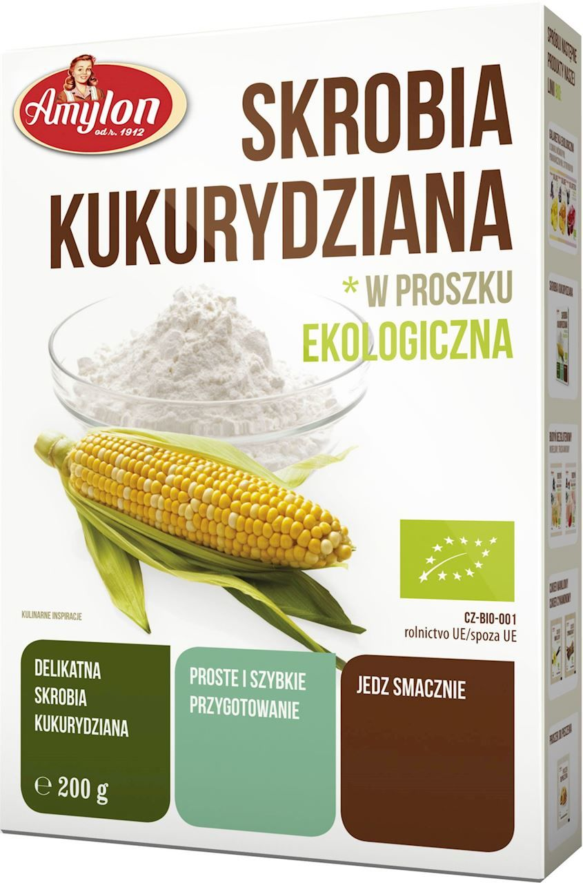 Skrobia kukurydziana bio 200 g - amylon