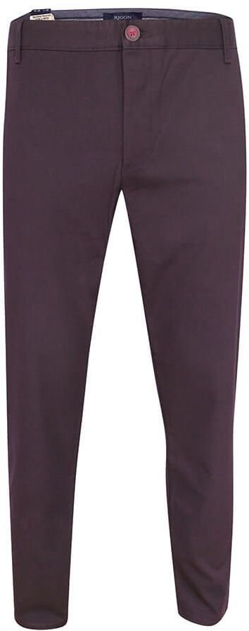 Spodnie Męskie, Bordowe Casualowe, Zwężane, Bawełniane z Lycrą, Chinosy -RIGON SPRGNneyman32262bordo