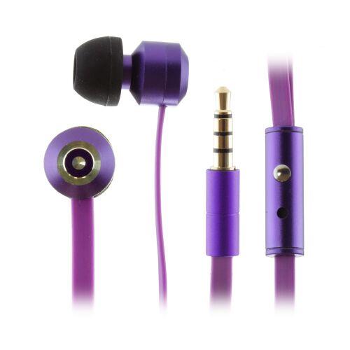 KITSOUND Ribbons Słuchawki dokanałowe z mikrofonem fioletowe