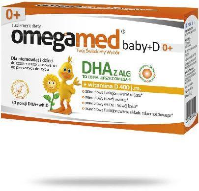 Omegamed Baby+D 0+ od urodzenia 30 kapsułek