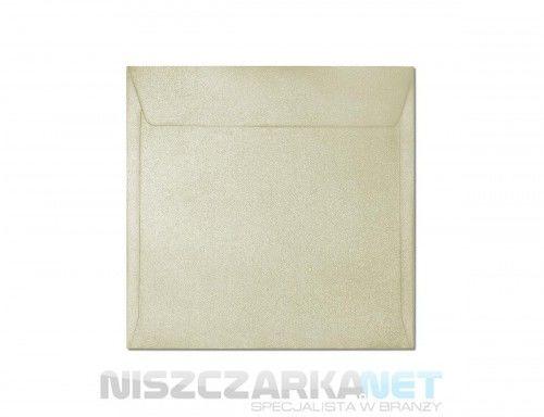 Koperta / koperty ozdobne kwadrat 158x158mm KW158 - MILLENIUM KREMOWY opk 10szt 120g/m2
