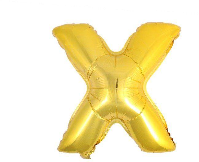 Balon foliowy X złoty 41cm 1szt BF41-X-ZLO