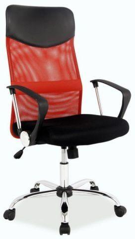 Fotel biurowy Q-025 czerwony/czarny  Kupuj w Sprawdzonych sklepach