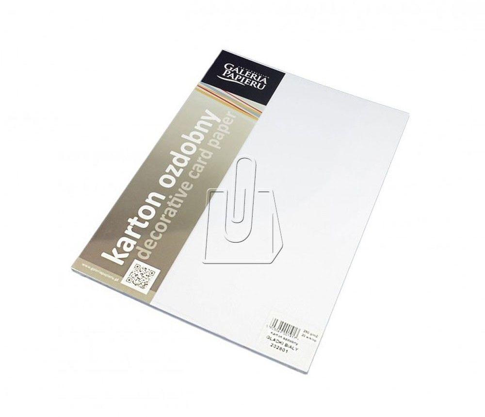 Papier ozdobny Gładki biały A4/250 20szt. /202801/