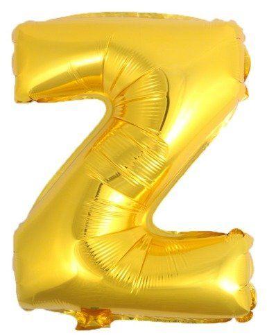 Balon foliowy Z złoty 41cm 1szt BF41-Z-ZLO