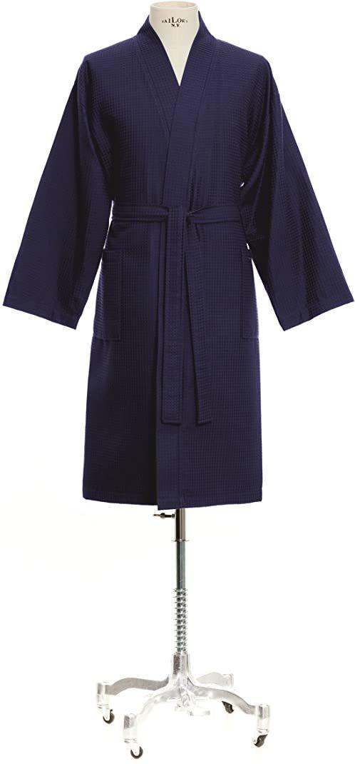 Möve Homewear Kimono piquée waflowe w rozm. XL ze 100% bawełny, deep sea