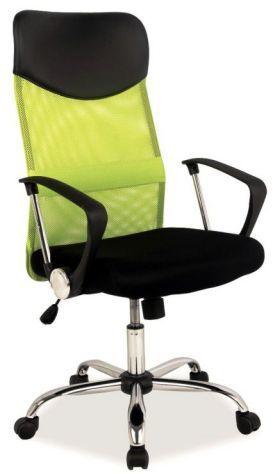 Fotel biurowy Q-025 zielony/czarny do pracy przy biurku  KUP TERAZ - OTRZYMAJ RABAT