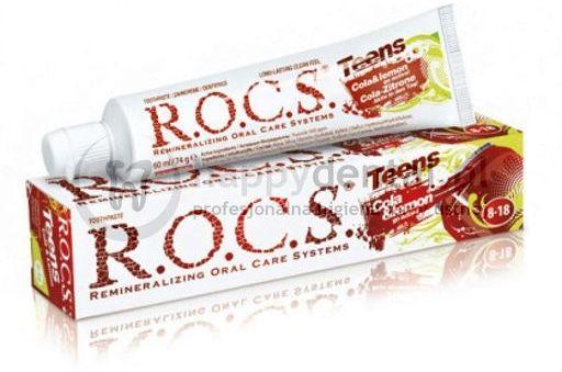 ROCS TEENS COLA-CYTRYNA 60ml - pasta do zębów dla dzieci w wieku 8-18 o smaku coli i cytryny