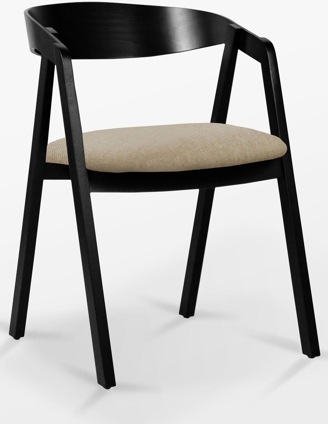 Krzesło bukowe NK-15mc Tapicerka lub Ekoskóra czarna/biała