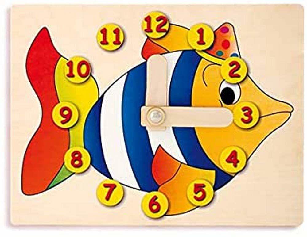 Dida - Zegarek do nauki dzieci - ryba - ręczny zegarek do nauki odczytywania godziny.
