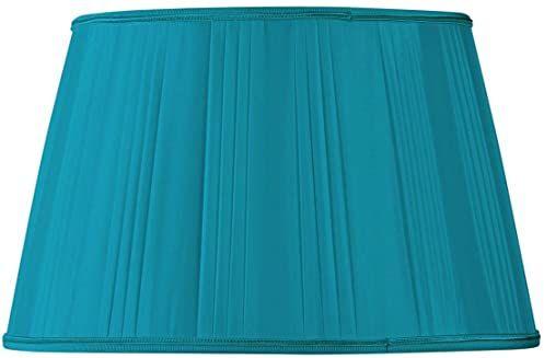 Klosz lampy w kształcie bębna, 40 x 30 x 25 cm, turkusowy