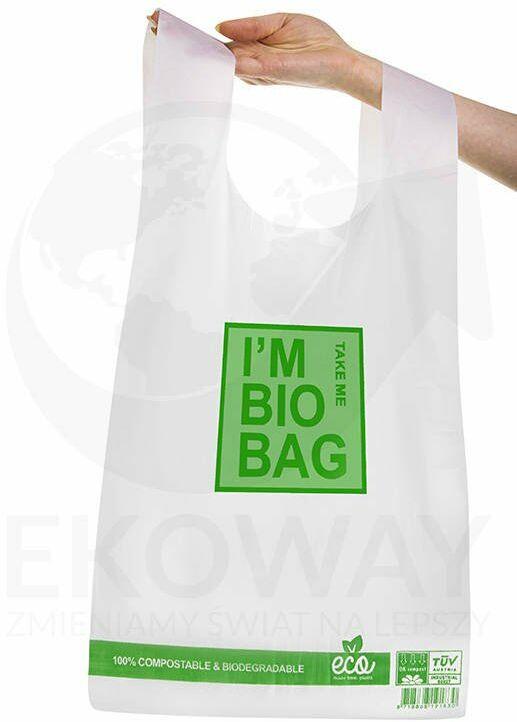 Reklamówki biodegradowalne 30x55 cm. 50 szt./opak.