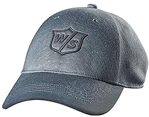 Wilson Czapka golfowa W/S One Touch dla mężczyzn, jasnoszara, bawełna, regulowany rozmiar Szary jasnoszary Jeden rozmiar