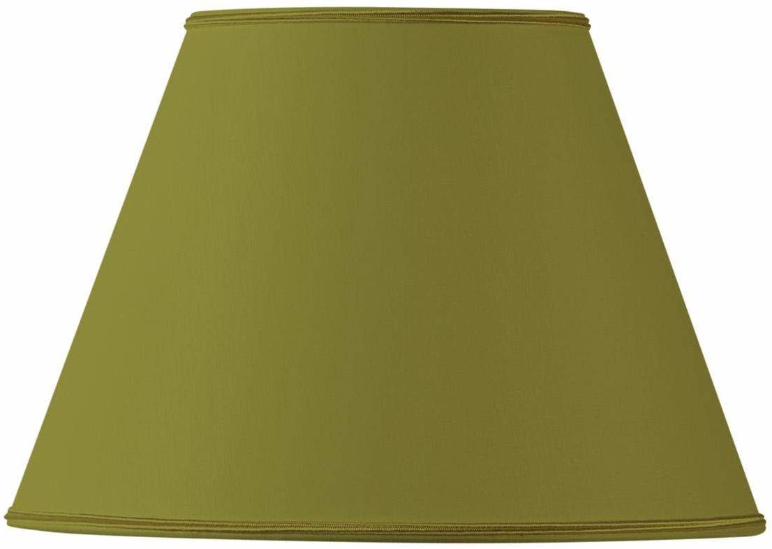 Klosz lampy z materiału, stożkowy, 25 x 13 x 18 cm, zielony brąz