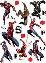 AG Design Marvel Spider Man naklejka ścienna, 1 część, folia PVC (bez ftalanów), wielokolorowa, 65 x 85 cm