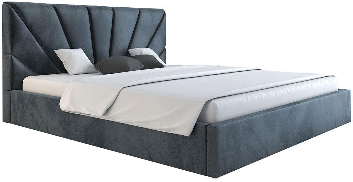 Jednoosobowe łóżko z zagłówkiem 120x200 Senti 3X - 48 kolorów