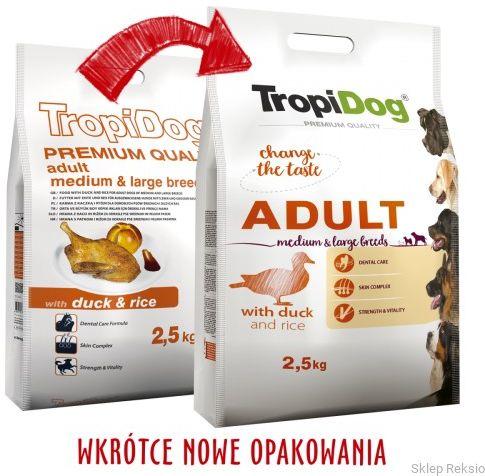 TROPIDOG Premium Adult Medium & Large Breeds - Duck & Rice 12kg