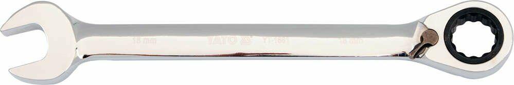 Klucz płasko-oczkowy z grzechotką 19 mm Yato YT-1662 - ZYSKAJ RABAT 30 ZŁ