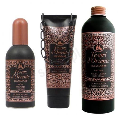 Zestaw Tesori d''Oriente Hammam - żel pod prysznic, płyn do kąpieli, perfumy