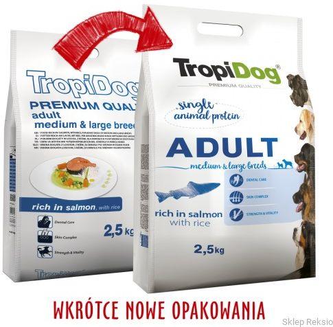 TROPIDOG Premium Adult Medium & Large Breeds - Salmon & Rice 12kg