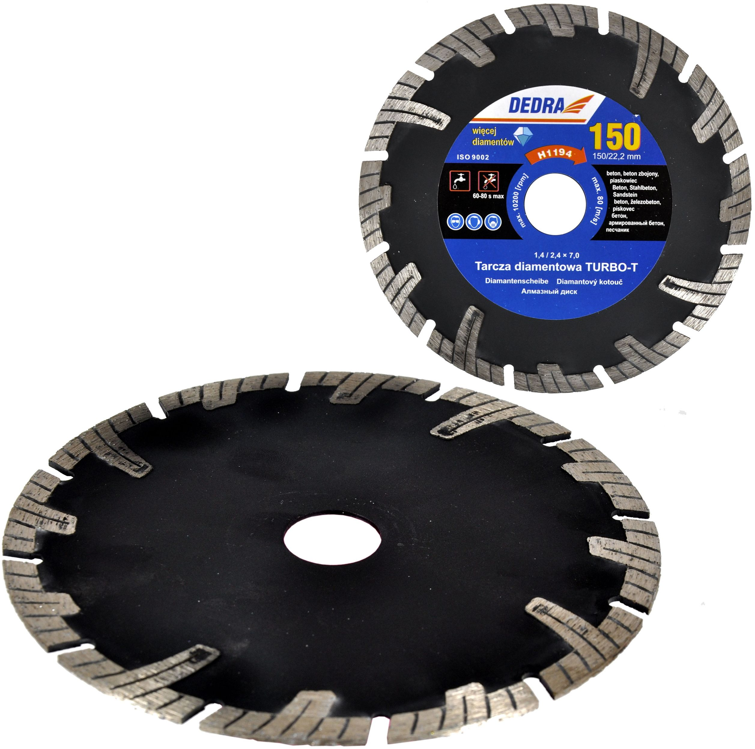 Piła tarczowa tarcza diamentowa 150mm 22,2 betonu