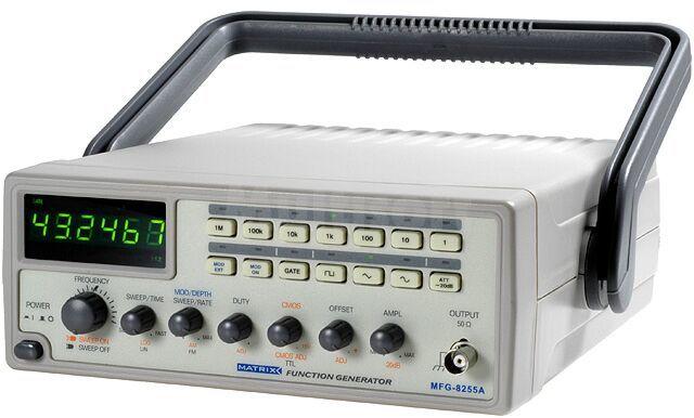 Generator funkcyjny MATRIX LED 6cyfr Częstościomierz:0,5 5MHz 1MOhm
