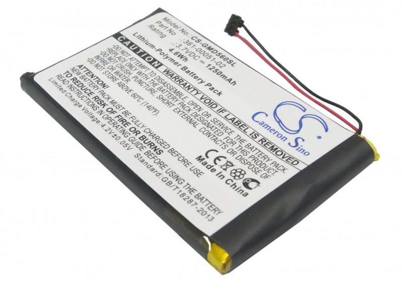 Garmin Dezl 560LMT / 361-00051-02 1250mAh 4.63Wh Li-Polymer 3.7V (Cameron Sino)