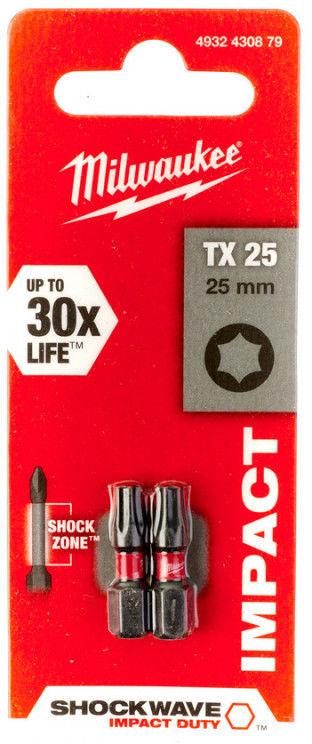 MILWAUKEE Bit TORX T20 25mm 2szt. 4932430879