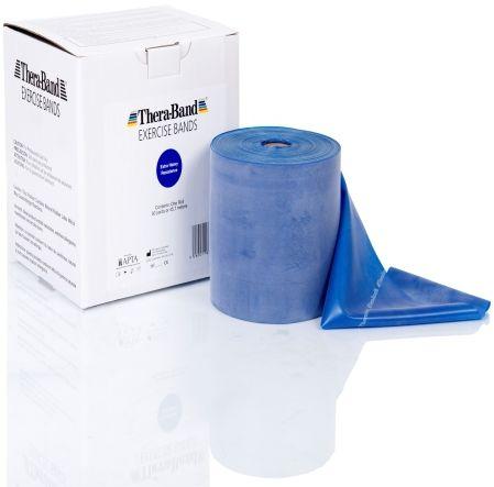 Guma rehabilitacyjna Thera Band o zwiększonej wytrzymałości - rolka 45,5m - niebieska (TB gigant blue)