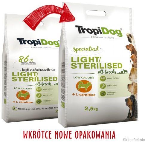 TROPIDOG Premium Light All Breeds - Chicken & Rice 12kg