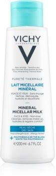 Vichy Pureté Thermale mineralne mleczko micelarne do skóry suchej 200 ml