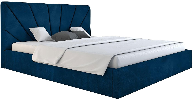 Łóżko małżeńskie z zagłówkiem 160x200 Senti 3X - 48 kolorów