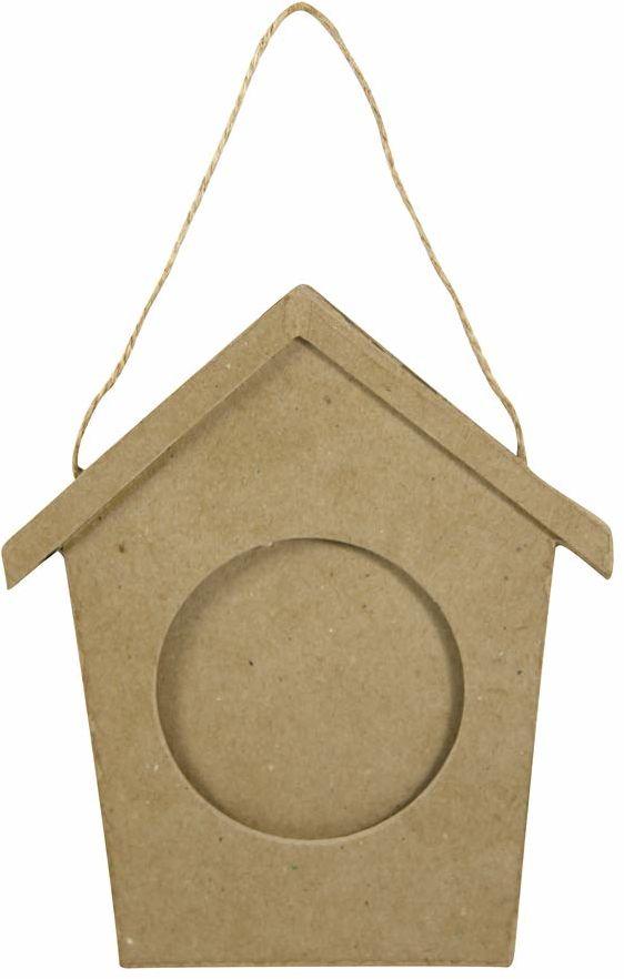Decopatch CD007O (rama do ozdobienia domku dla ptaków z masy papierowej, 10 x 130 x 150 mm)