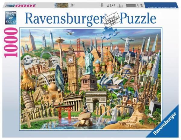 Puzzle 1000 elementów Słynne budowle (GXP-764297)