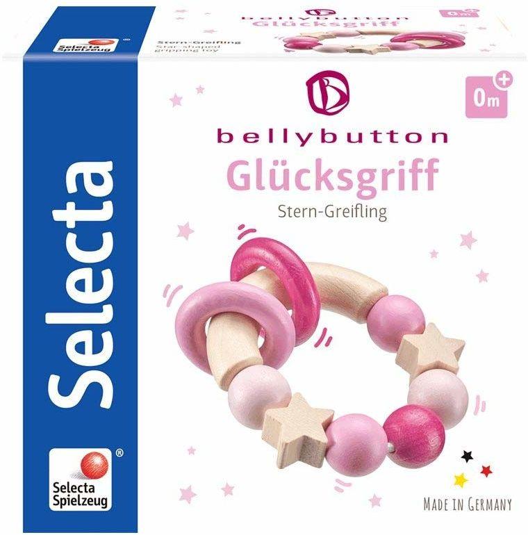 Selecta 64000 Glücksgriff, drewniana zabawka do chwytania, różowa, 7,5 cm