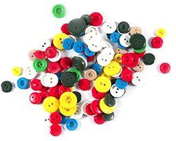 LEDUC 30 g (ok. 70)  różne kolory guziki rozmiary (9 mm-18 mm), 13 x 12 x 1 cm