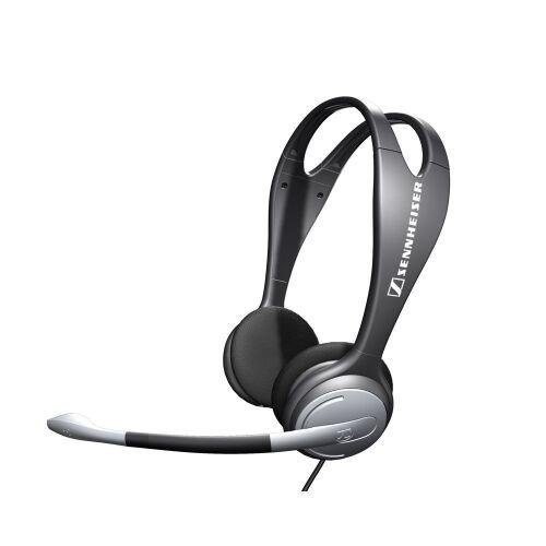 Słuchawki nagłowne z mikrofonem Sennheiser PC 131, czarno-srebrne