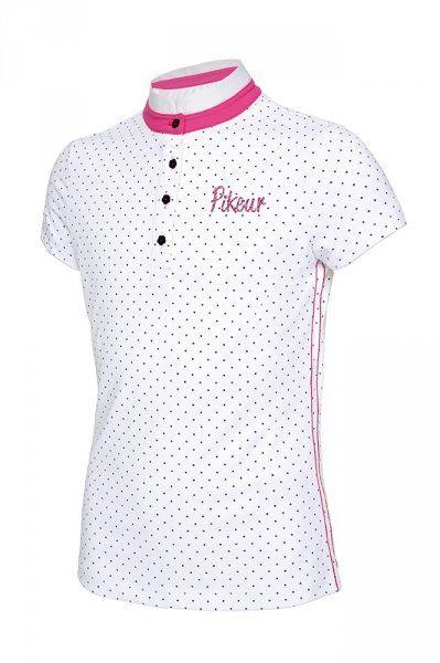 Koszulka konkursowa młodzieżowa PIKEUR LENI - white