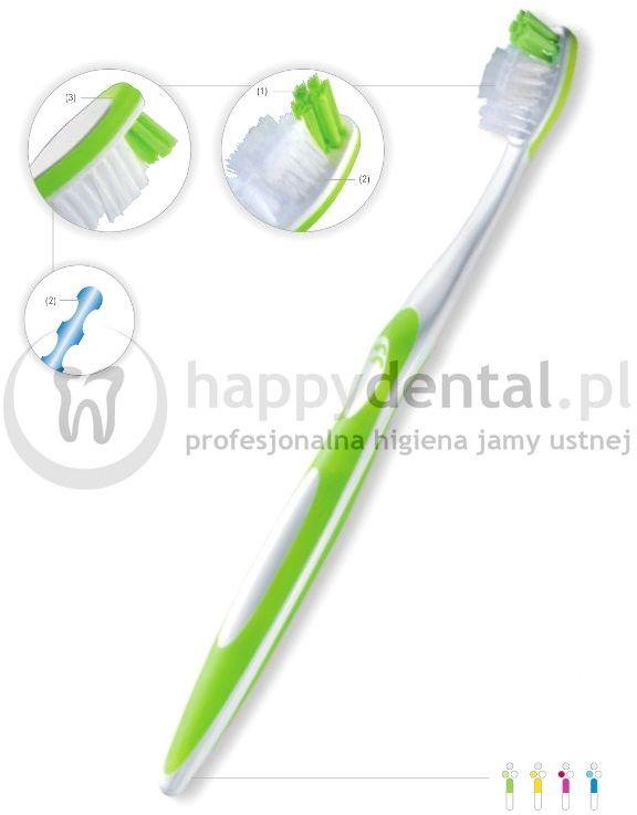 FUCHS SANIDENT Medium 1szt.- szczoteczka do zębów ze średnio miękkimi włóknami