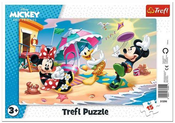 Puzzle 15 ramkowe Zabawy na plaży Disney 31390 - Trefl PAP