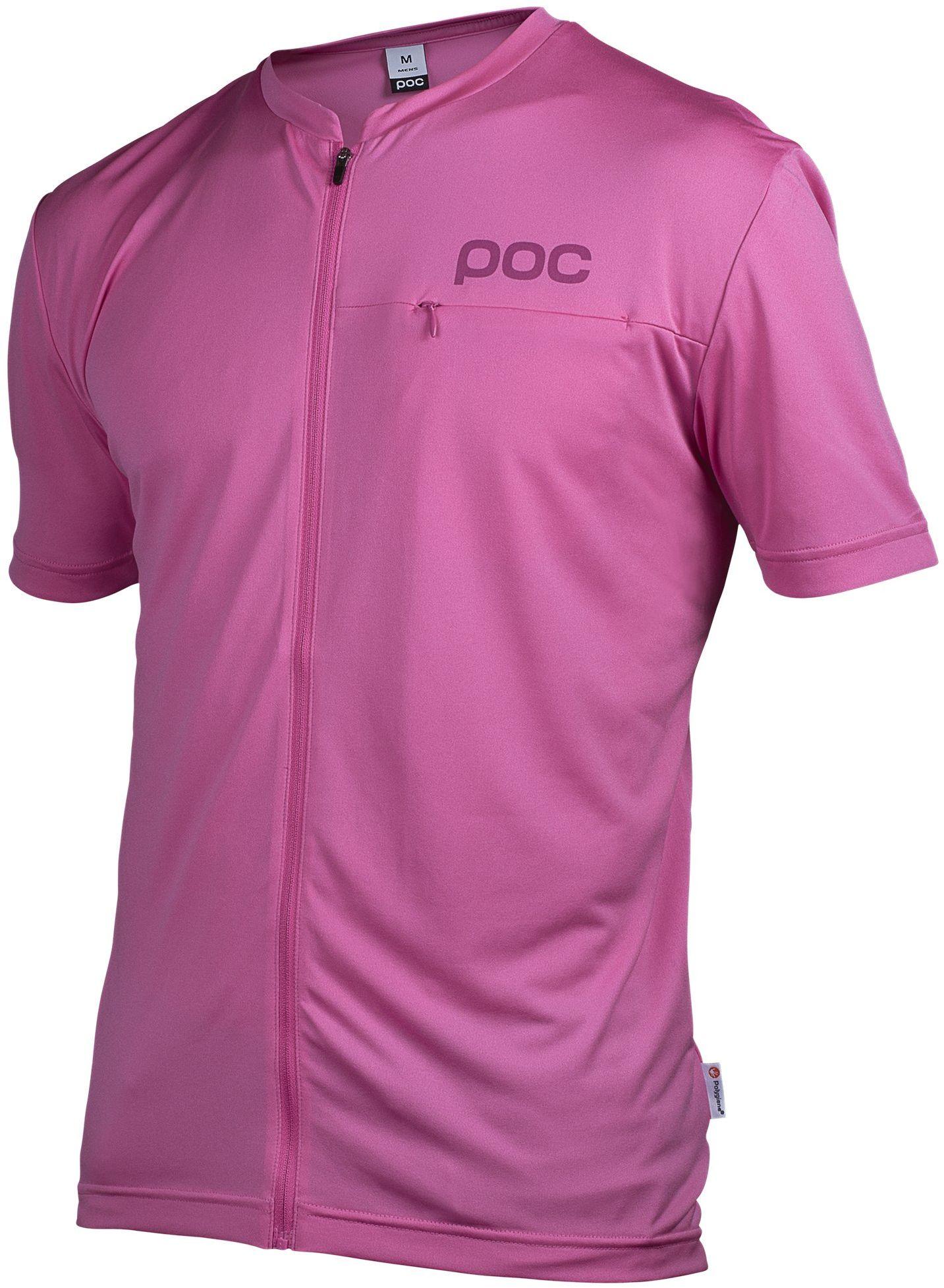 POC Męska koszulka rowerowa Trail Light Zip Tee, Sulfur Pink, XL, 52155