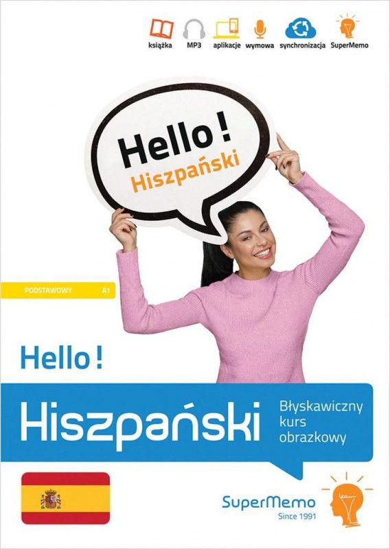 Hello! Hiszpański Błyskawiczny kurs obrazkowy (poziom podstawowy A1) ZAKŁADKA DO KSIĄŻEK GRATIS DO KAŻDEGO ZAMÓWIENIA