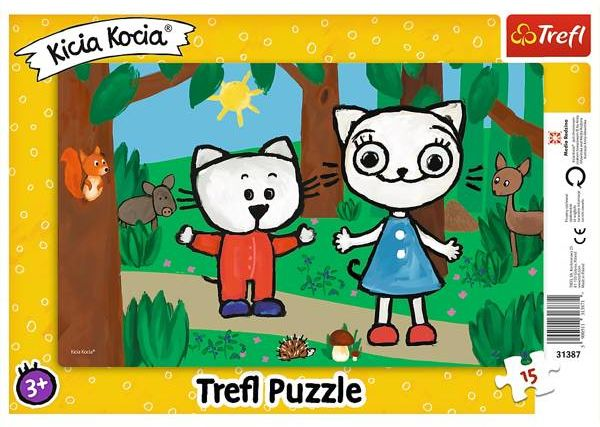 Puzzle 15 ramkowe Kicia Kocia w lesie 31387 - Trefl PAP