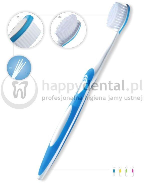 FUCHS SANIDENT Super Soft 1szt.- szczoteczka do zębów do czyszczenia nadwrażliwych zębów i dziąseł z bardzo miękkim włosiem