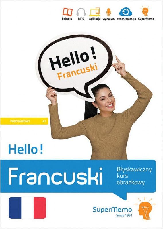 Hello! Francuski Błyskawiczny kurs obrazkowy (poziom podstawowy A1) ZAKŁADKA DO KSIĄŻEK GRATIS DO KAŻDEGO ZAMÓWIENIA